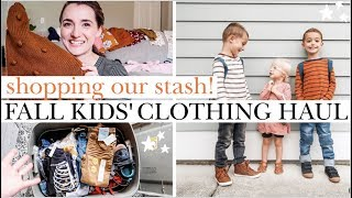 *not-so-typical* FALL KIDS CLOTHING HAUL! Grow-Into Stash, New & Thrifted Pieces| Toddler Boy & Girl
