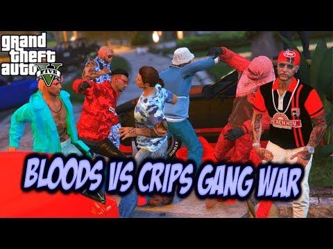 GTA 5 ONLINE BLOODS VS CRIPS GANG WAR EP #1