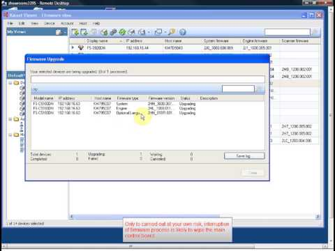 Kyocera firmware upgrade with KM Netviewer
