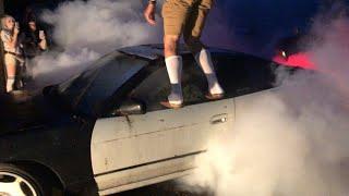 1JZ S13 Backyard Burnout!