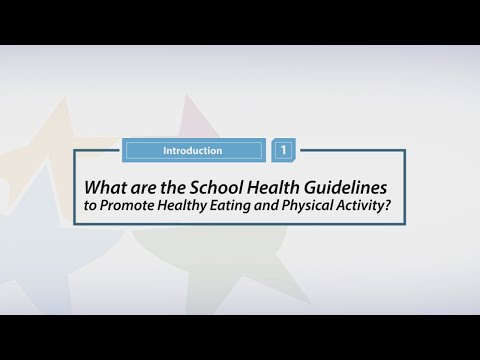 What are the School Health Guidelines to Promote Healthy Eating and Physical Activity?