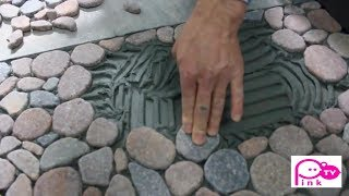 How To Lay Natural Stone Tiles For Bathroom Floors   5 Minutes Craft