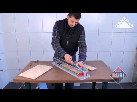 utiliser le coupe-carreaux manuel rubi practic - youtube