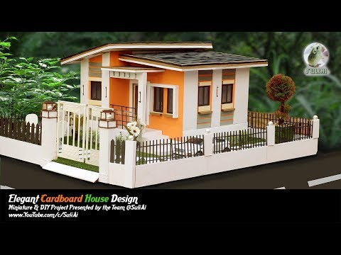 How To Make Beautiful Cardboard House Project