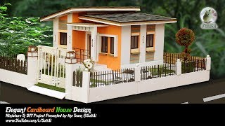 🏡How To Make Beautiful Cardboard House With LED Lights – (Dream house) – Model 05
