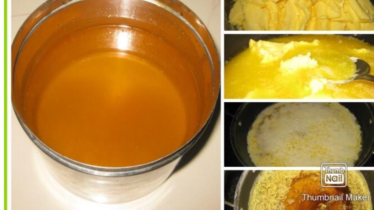 Homemade ghee from butter cream#homemadeghee