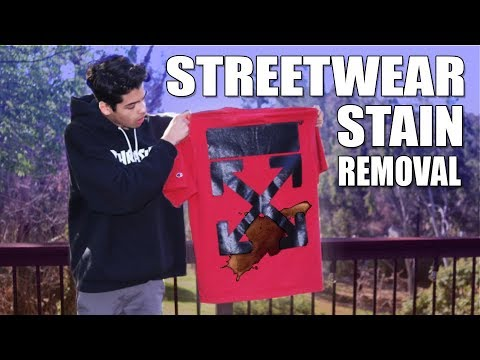 STREETWAER STAIN REMOVAL TUTORIAL- Off-White, Tide ToGo