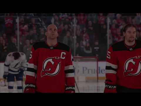 Angelica Vidal sings the National Anthem for the NJ Devils 3/24/18