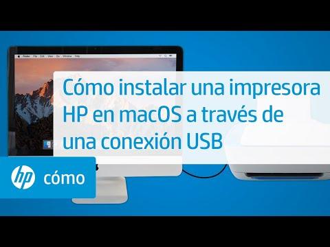 Cómo instalar una impresora HP en macOS a través de una conexión USB | HP Printers | @HPSupport