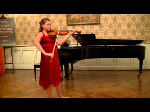"ZAGAN LAM 2014 - E. Ysaye Sonata ""Ballada"", Ines Issel Burzyńska – skrzypce"