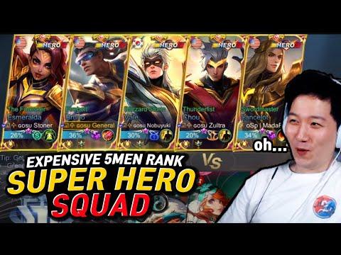 Messy TROLL 5men Super hero squad    Mobile Legends