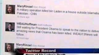 WEAU TV 13: Attention surrounding bin Laden