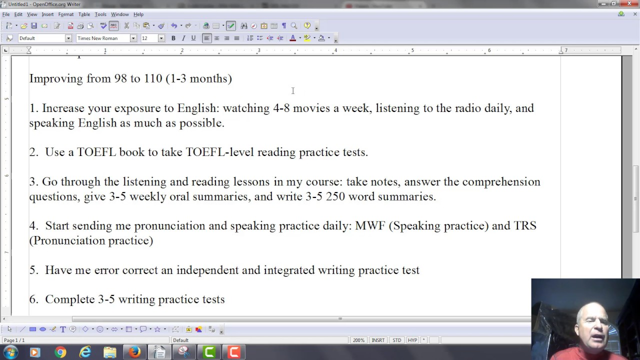 Your Score to Improve about the TOEFL