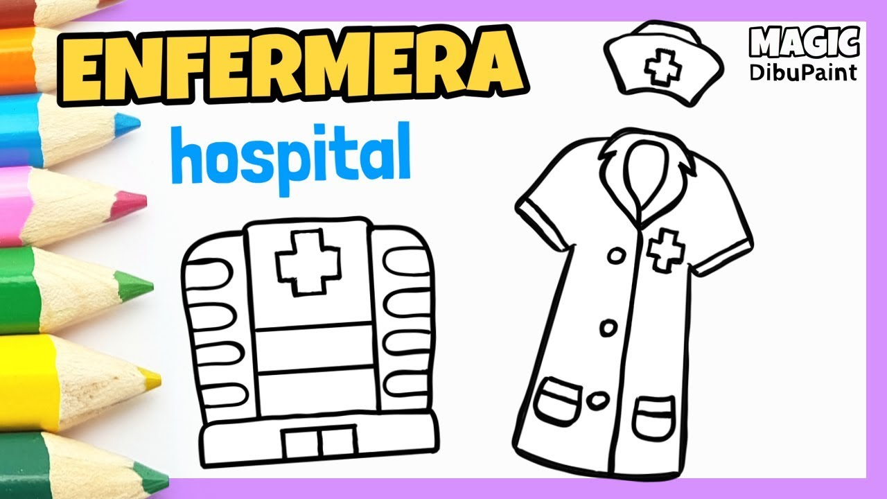 Dibujos Para Dibujar Dibujo Uniforme Enfermera Cómo Dibujar Un Hospital