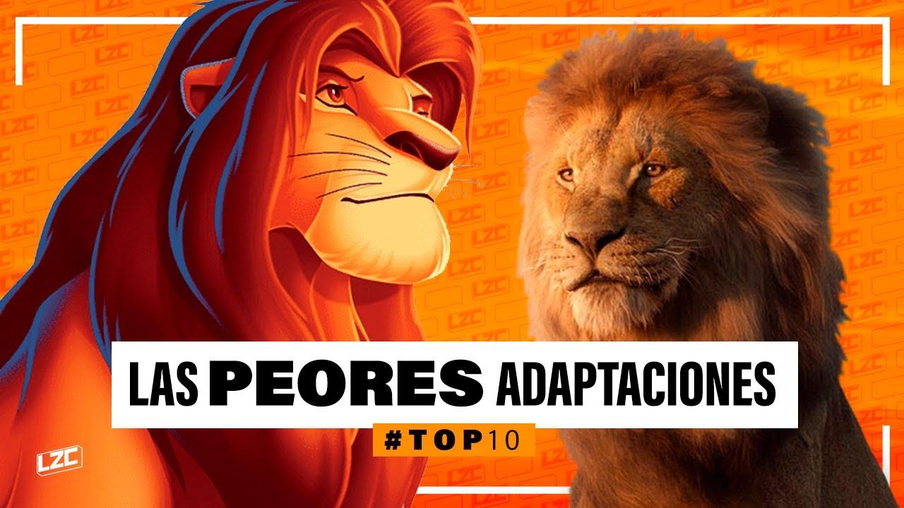 Download 10 PEORES Adaptaciones de Animación a Live Action | Top 10 | LA ZONA CERO
