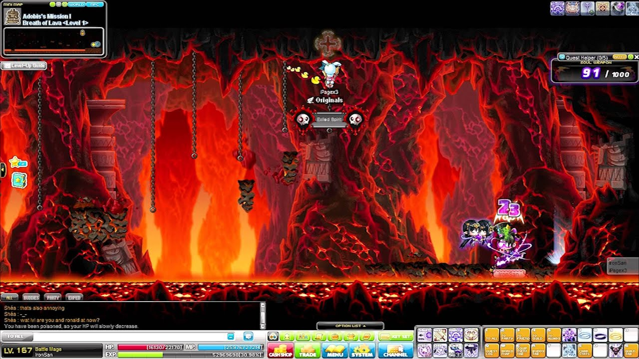 MapleStory Europe - Femke and Ronald Training Experience - Day 7 - Bossing and Supreme Server