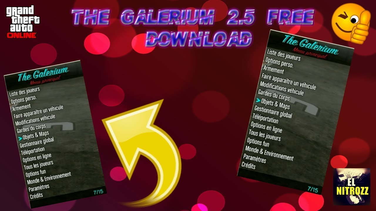 [1 27/1 28] GTA 5 online PS3 | MOD MENU THE GALERIUM 2 5 1  DEX/CEX/BLES/SPRX + DOWNLOAD