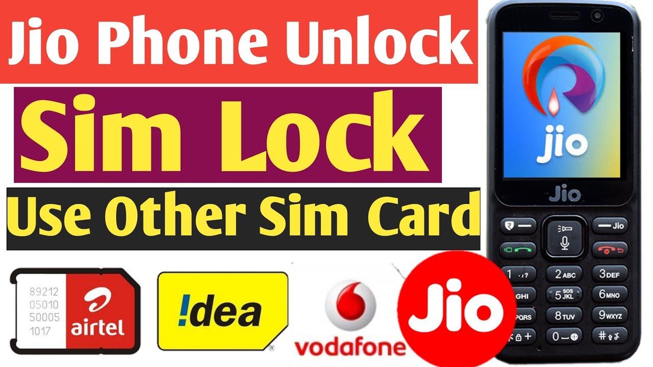 How To Unlock Jio Phone Sim Lock & Use Other Sim Card ...