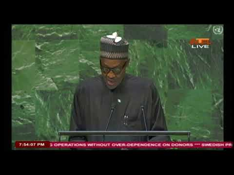 President Buhari's Address to the 73rd UNGA - United Nation General Assembly