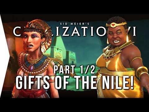Civilization VI ► P1 Nubia Scenario - Gifts of the Nile! - [Civ 6 Gameplay]