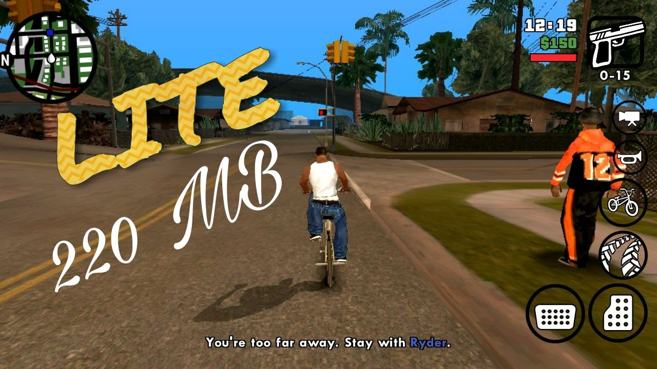 GTA SA LITE 220 MB (DOWNLOAD+TUTORIAL) SUPER LEVE - QUALQUER CELULAR