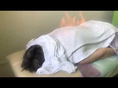 Огненный массаж в санатории #Саялы