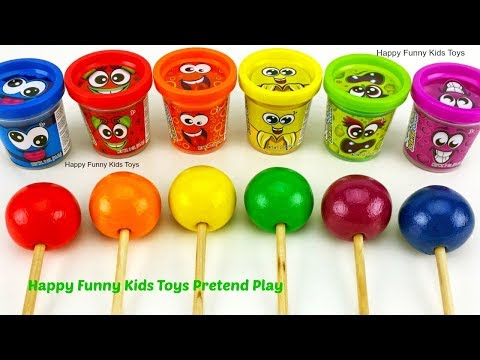 Learn Colors with Play Doh and Making Ice Cream Popsicle | Surprise Eggs LOL Zuru 5 Surprise Toys