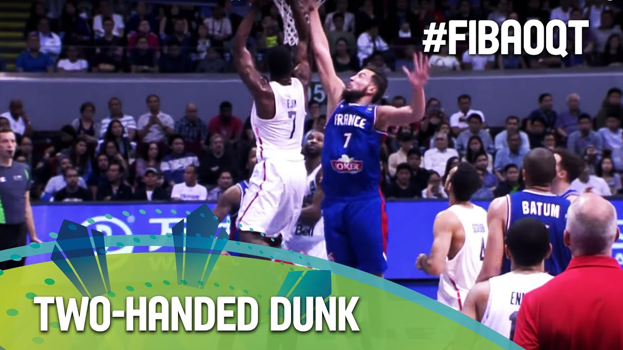 Ejim jumps off for the two-handed dunk