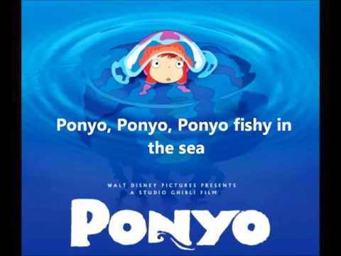 Ponyo on the Cliff By the Sea   Lyrics Full song