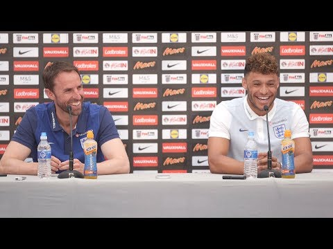 Gareth Southgate & Alex Oxlade-Chamberlain Pre-Match Press Conference - France v England