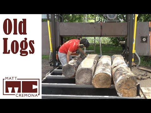 Sawing Old Logs - How long can I wait before sawing logs into lumber?