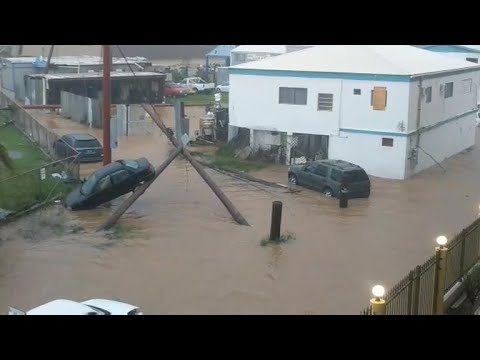 Hurricane Irma pounds Puerto Rico with rain and wind