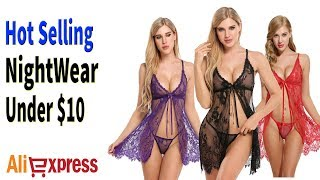 Hot Selling Nightwear Under $10 Review on #AliExpress