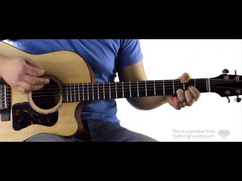God Gave Me You Blake Shelton Guitar Lesson and Tutorial