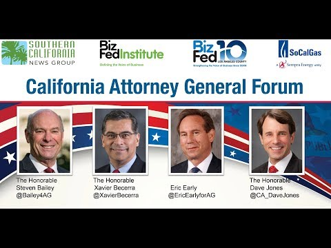 California attorney general candidates spar over immigration, the Second Amendment and Trump