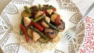 Pollo Salteado con Verduras, Soja y Miel (Estilo Asiático)