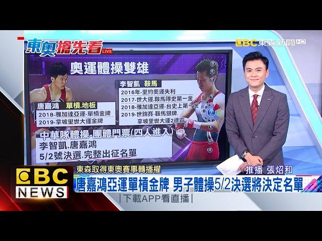 最新》奧運體操雙雄!李智凱、唐嘉鴻拚「完美落地」 @東森新聞 CH51