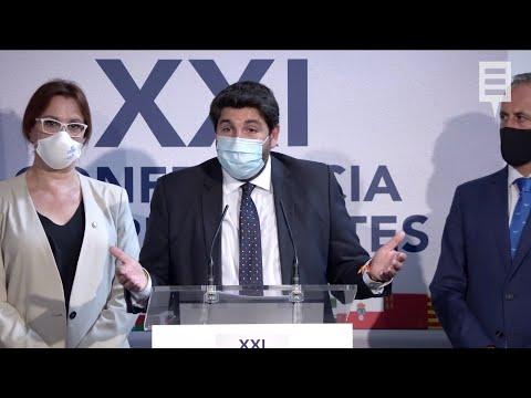 """López Miras critica la falta de compromisos en una """"reunión de monólogos"""""""