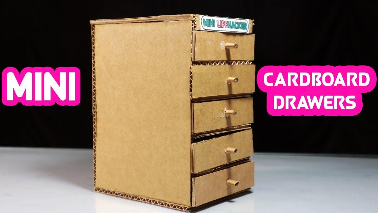 How to make small drawers - DIY Cardboard Mini Drawers - Mini Lifehacker