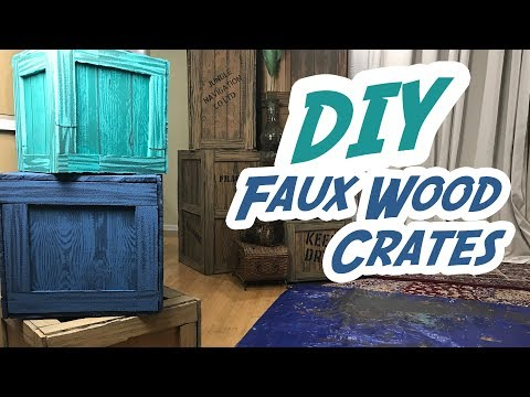 How To Make Faux Wood Crates - DIY