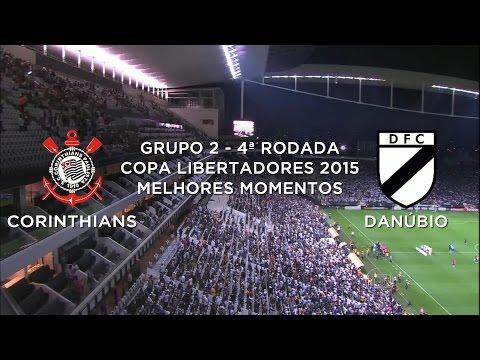 Melhores Momentos - Corinthians 4 x 0 Danúbio-URU - Libertadores - 01/04/2015
