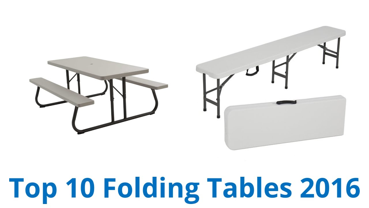 10 best folding tables 2016 youtube 10 best folding tables 2016 watchthetrailerfo