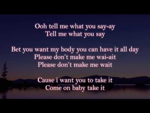 Mavado Ft Karian Sang - Take It (lyrics on screen)
