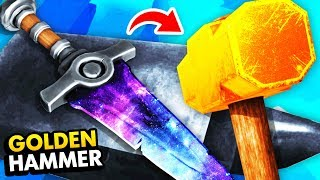 Unlocking GOLDEN HAMMER To Create LEGENDARY WEAPONS (Funny Hammer And Anvil VR Gameplay)