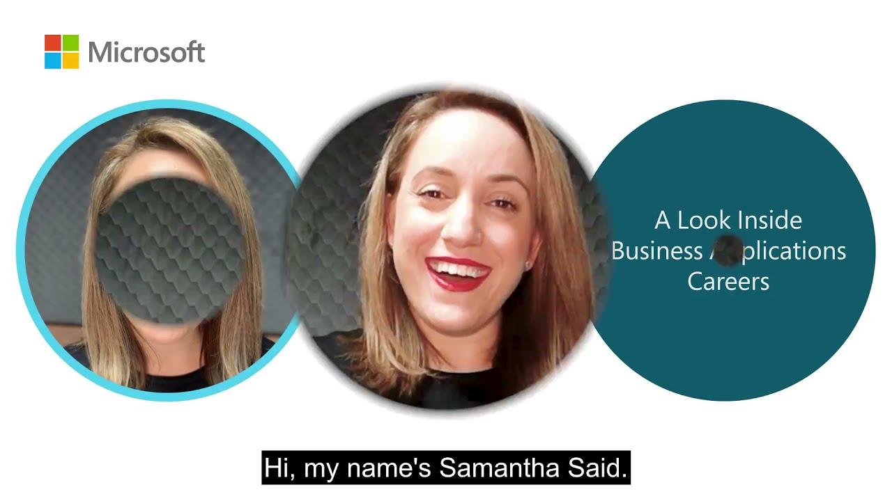 Samantha Said   My #MicrosoftLife: A Look Inside Business Applications Careers