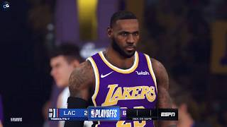 Los Angeles Clippers vs. Los Angeles Lakers - Game 2 - Conf. Finals - 2020 NBA Playoffs! - NBA 2K20