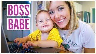 DAY IN THE LIFE | BOSS MOM PEP TALK! 💪🏼👠 | FALL 2018