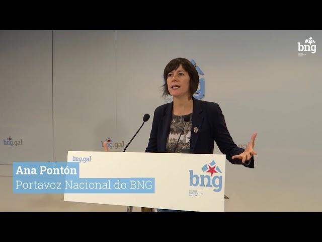 """Ana Pontón """"Feijóo leva 8 anos de desgoberno, 8 anos de submisión a Rajoy"""""""
