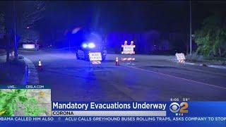 Canyon Fire Burn Areas In Corona Under Mandatory Evacuations