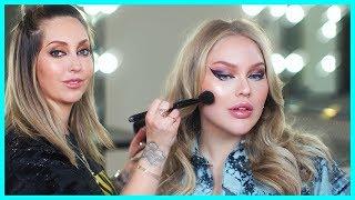 Lady Gaga's Makeup Artist Does My Makeup! | Ft. Sarah Tanno